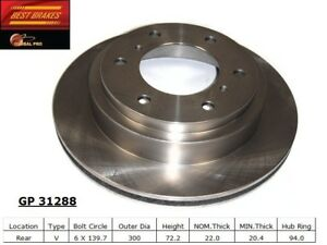 Disc-Brake-Rotor-fits-2000-2006-Mitsubishi-Montero-BEST-BRAKES-USA