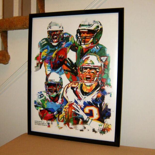 Super Bowl 52 Patriots Eagles Football NFL Sports Poster Print Wall ...