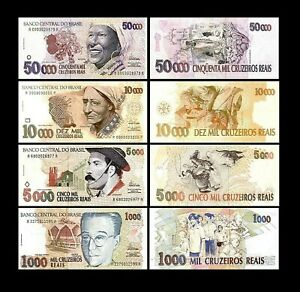 Brésil - 2x 1000 - 50000 Cruzeiros Reais - Edition 1993 - 1994 - Reproduction 01