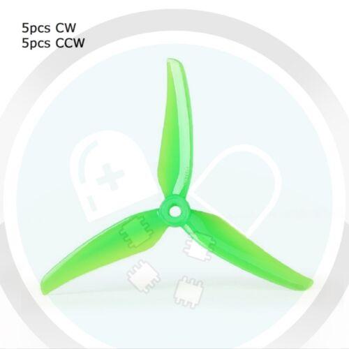 "10pcs T-Motor T5147 5.1x4.7x3 3-Blade Propellers 5/"" 5xCW 5xCCW DALPROP GEMFAN"