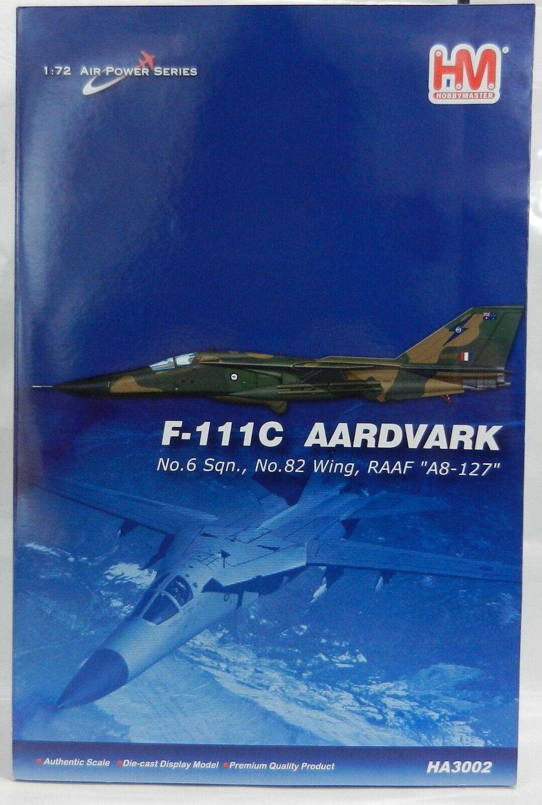 HOBBY MASTERS 1 72 AIR energiaS SERIES F-111C Aardvark Combatiente Plane  HA3002