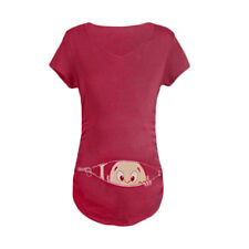 Funny Pregnant Women T-shirts O/neck Pregnancy Long Tee Shirts ...