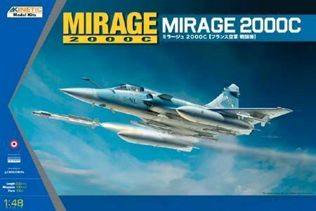Kinetic 1//48 Mirage 2000C Multi-Role Combat Fighter # 48042*