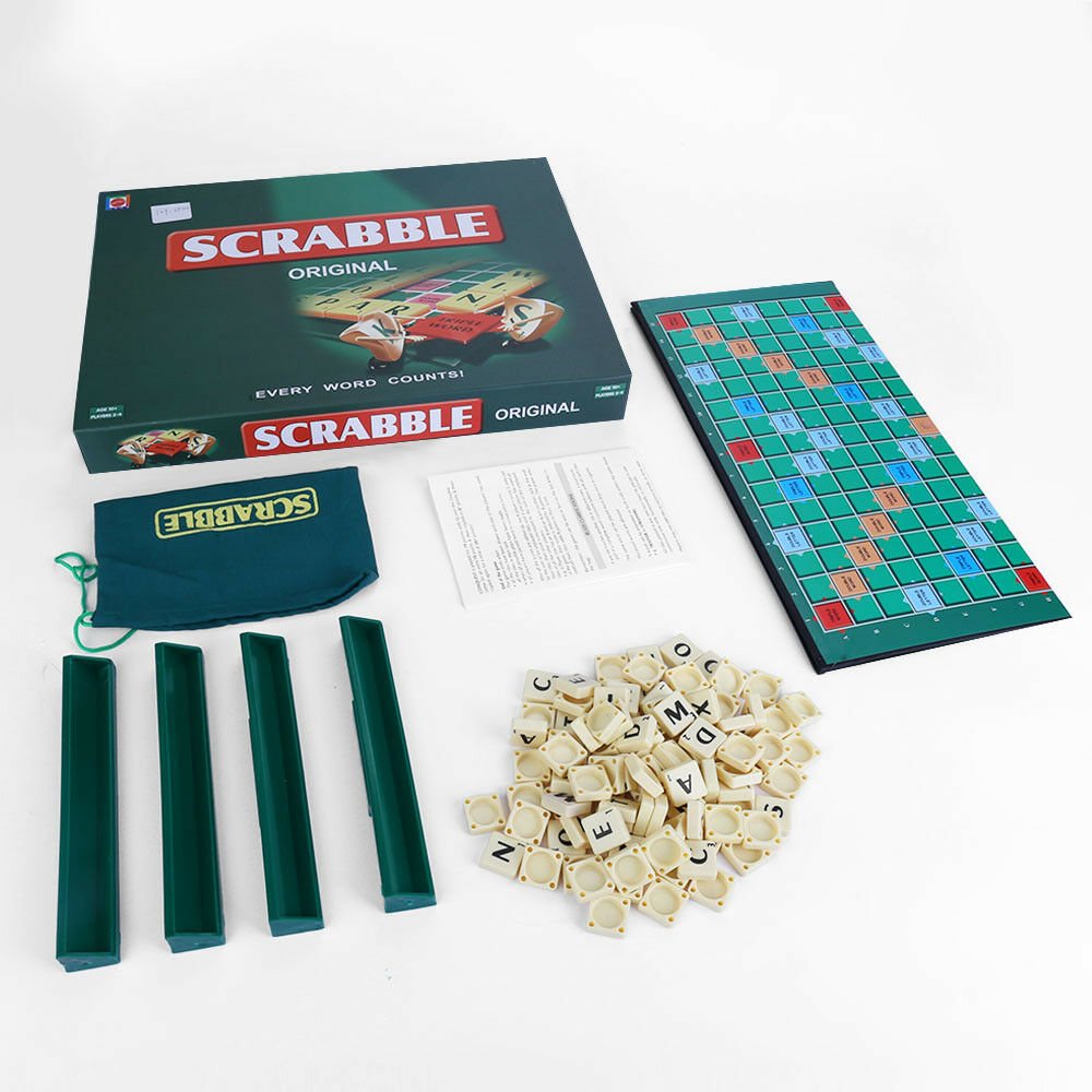 New Original Scrabble Board Game Family Kids Adults Educational Toys Puzzle Game 8