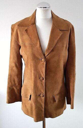 morbida vintage marrone donna scamosciata giacca Uk Tan chiaro in da 10 pelle Incredibile xXq5Hgaww