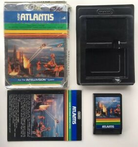 INTELLIVISION-Atlantis-Complete-In-Box-CIB-No-Overlays-Hard-To-Find