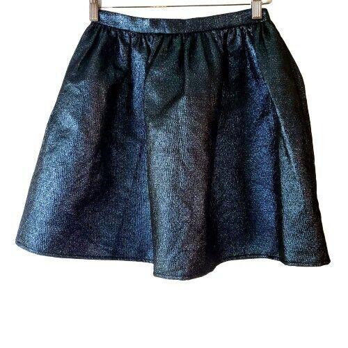 Opening Ceremony Metallic Blue Mini Skirt