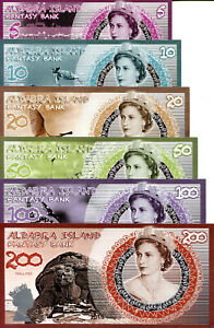 MONTSERRAT Set 6 Notes 1-100 Dollars Fun-Fantasy Note Private Issue Currency