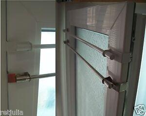 klemmstange ausziehbar vitragestange gardinenstange easy fix klemmen ohne bohren ebay. Black Bedroom Furniture Sets. Home Design Ideas