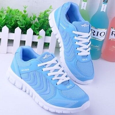 NEW RUNNING TRAINERS WOMEN'S WALKING SHOCK ABSORBING SPORTS FASHION SHOES SIZE 0