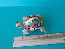 """OLDER REFRIGERATOR MAGNETS """"PIN CUSHION TURTLE""""   3 3/4""""IN DIAMETER CLOTH"""