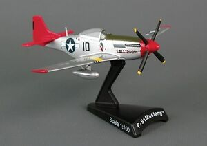 USAF P-51D Mustang Tuskegee 1//100 Diecast Model Airplane Postage Stamp PS5342-7