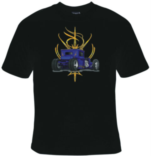 BRAND NEW BLUE HOT ROD T-Shirts Small to 5XL BLACK or WHITE