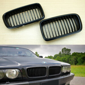 M-COLOR GLOSSY BLACK BMW E38 7-series SEDAN FRONT GRILLS GRILLE KIDNEY