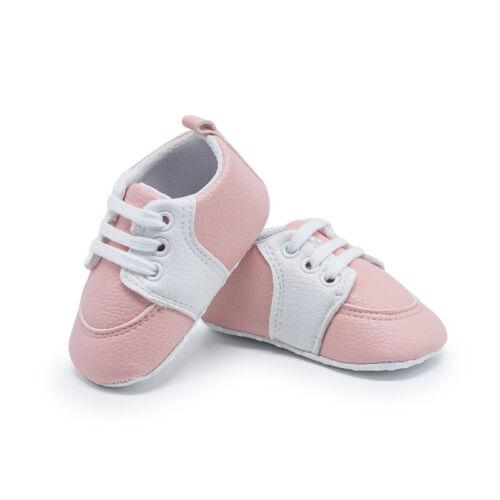 Newborn Baby Crib Shoes Infant Toddler Boy Girl Saddles Shoes PreWalker Trainers