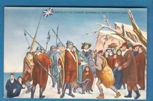 Postcard-Landing-of-the-Pilgrims-December-1621-Plymouth-MA-NO-2686