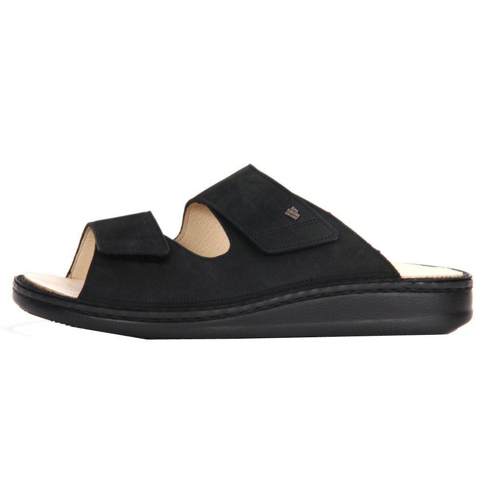 Finn Comfort Mens 1505 Riad Black Leather Sandals
