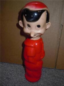 Disney-034-Soaky-034-Colgate-Palmolive-Pinocchio-Figure-11-Bubble-bath-10inch-Figure