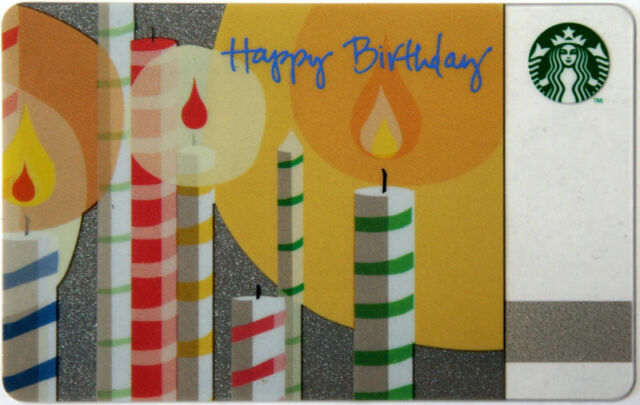 Starbucks Gift Card Happy Birthday Collectible No Value 2010