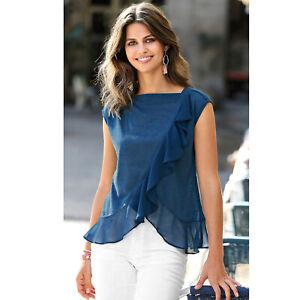 Tee-shirt-manches-courtes-volant-contraste-femme-112625