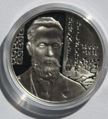 Poland Bronislaw Pilsudski 2008 MW silver 10 zlotych
