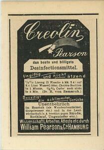 ANTIQUE-GERMAN-ACEO-SIZE-CREOLIN-PEARSON-DISINFECTANT-ADVERTISEMENT-OLD-PRINT