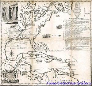 1713 Map Of The Country Of Louisiana Ye River Mississippi Poster