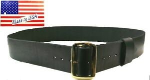 santa claus belt 3 wide with buckle all leather renaissance pirate usa made - Santa Claus Belt