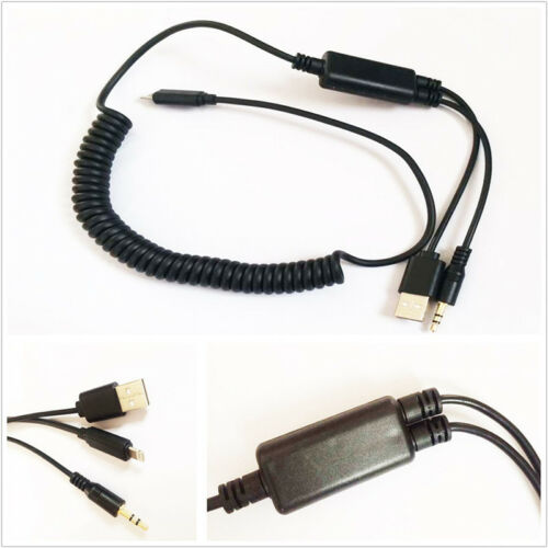 New Car Interface Audio USB Y Cable AUX Adapter Lead For BMW /& Mini iPod iPhone