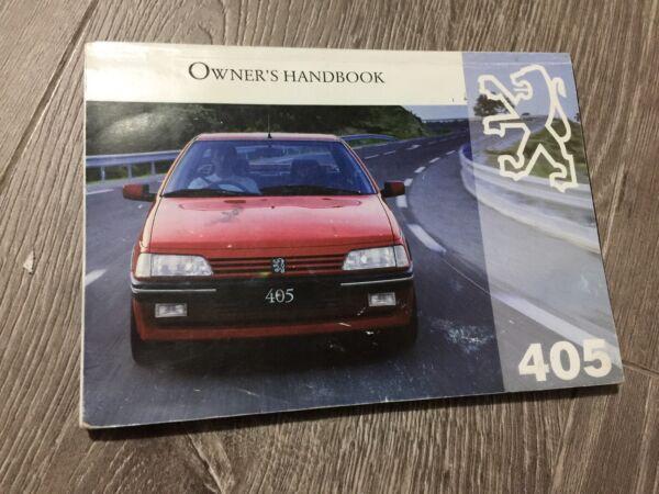 #19 Peugeot 405 Proprietari Manuale Di Istruzioni Manuale Del Conducente Mi16 Sri Gri Gtx Gr Gl Delizioso Nel Gusto