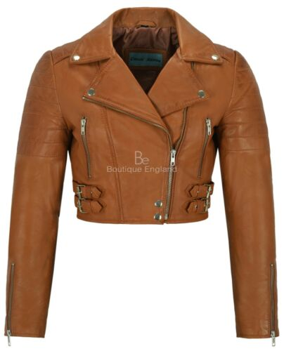 5625 Biker Tan Short Fit Lambskin Leather Body Style Ladies Jacket Slim 70qxqvw