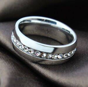 Verlobungsring-Ring-Edelstahl-Swarovski-Strass-Gr-56-18-8-Neu-Silber