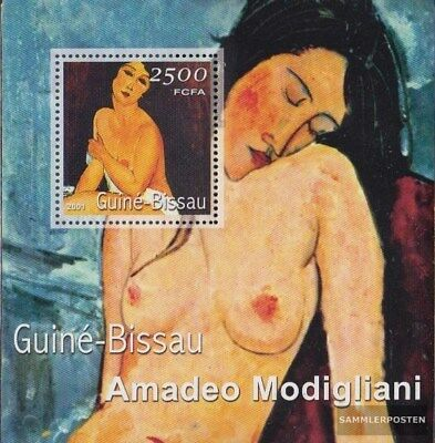 Guinea-bissau Block347 Postfrisch 2001 Gemälde Aesthetic Appearance Topical Stamps Africa