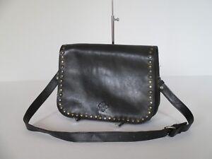 Image Is Loading Patricia Nash Vitellia Flap Black Leather Messenger Crossbody