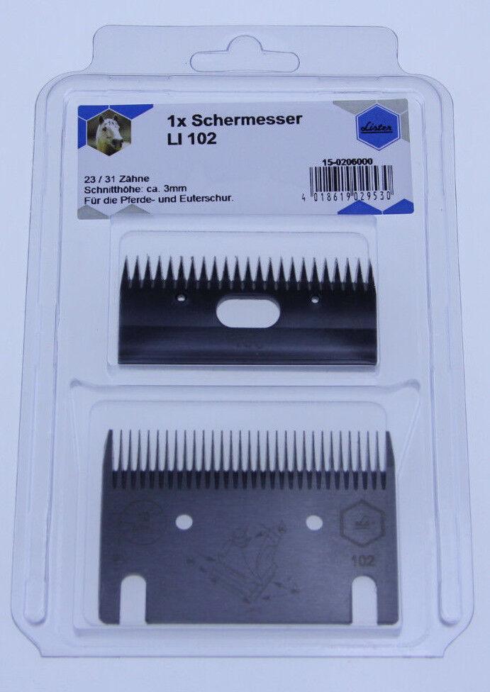 Lister Schermesser LI 102 Scherkopf Scherkamm Scherblatt für für Scherblatt Pferde 3 mm 1e31e3