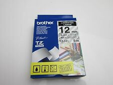 Brother TZ-131 P-Touch Compatible Black on Clear Tape 12mm