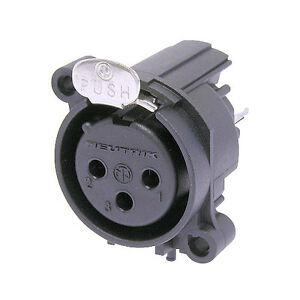 NEUTRIK-NC3FAV-Cannon-XLR-Femmina-da-pannello-3-poli-contatti-circuito-stampato