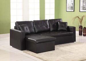 Miami Corner Sofa Bed Faux Leather