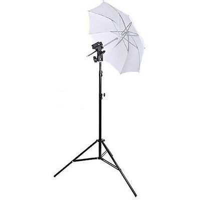 Photo Photagraphy Studio Light Stand White Umbrella Flash Mount Hot Shoe Set