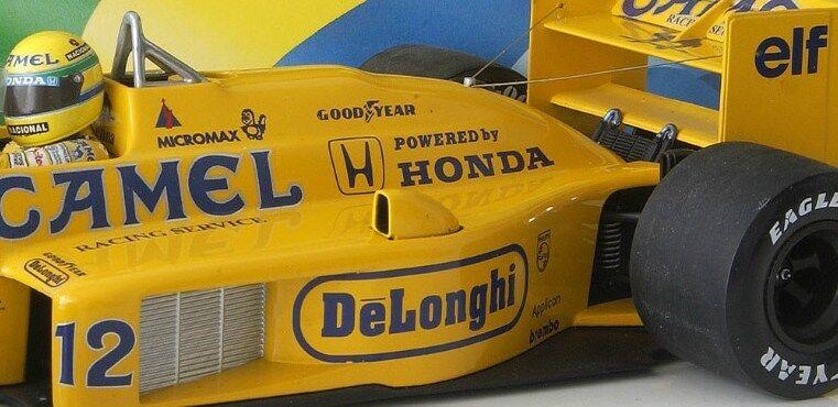 Ayrton Senna Minichamps Lotus T99 Team Camel 1987 French Gp Detail