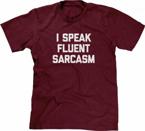 I Speak Fluent Sarcasm T-Shirt funny saying sarcastic cool Funny Tshirts for Men