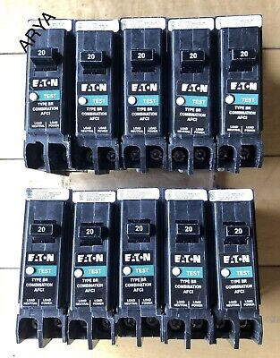 LOT OF 10 CUTLER HAMMER BRCAF120 ARC-FAULT BREAKER 20A NEW IN BOX