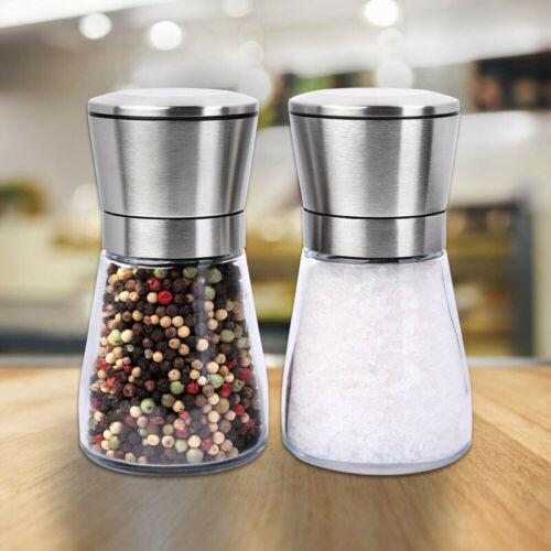 Salt and Pepper Kitchen Tools Gadgets Grinder Set Mill Shakers Kit Brushed