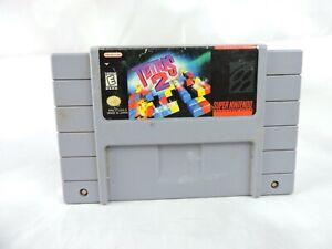 1992 Super Nintendo Tetris 2 Video Game Cartridge SNES Japan Vintage Retro