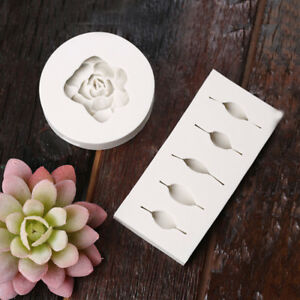 Fondant-Gum-Mold-Sugar-Paste-Cake-DIY-Decoration-Tool-3D-Succulent-Flower-Leaves