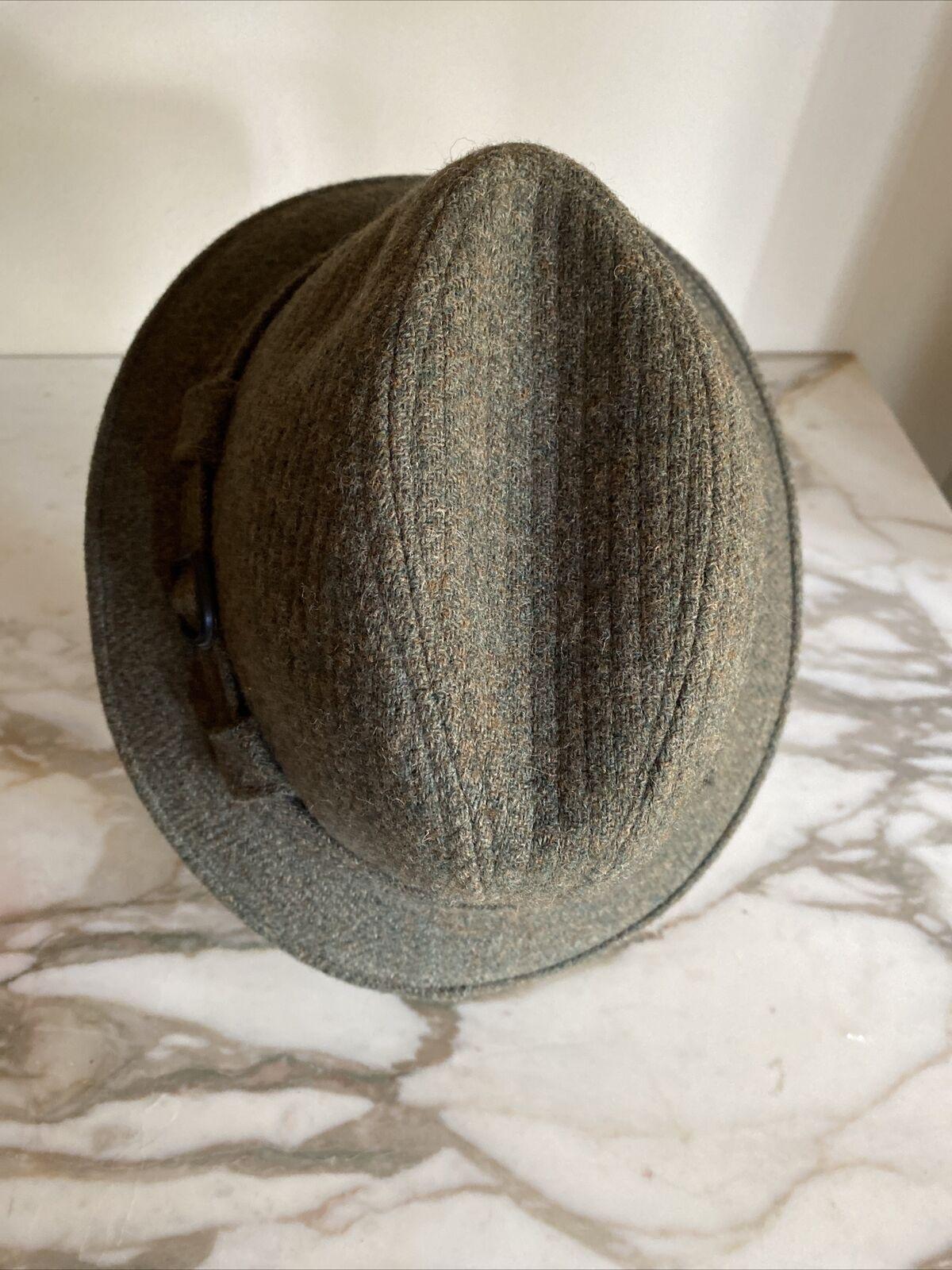 World's Best 100% Wool Vintage 1950's Green Fedor… - image 3
