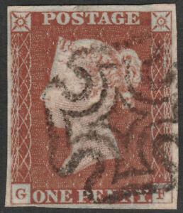 1841-SG8-1d-RED-BROWN-PLATE-36-VERY-FINE-USED-4-MARGINS-MALTESE-CROSS-GF