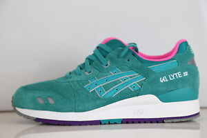 Image is loading Asics-Gel-Lyte-III-Tropical-Green-Pink-H511L-