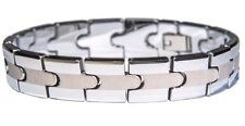 NEW Men's Two Tone Tungsten Carbide Bracelet Matte & Shiny - Synergy Collection