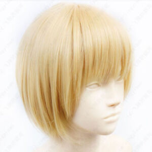 NEW Japan Anime Attack on Titan Armin Arlart Costume Cosplay Wig Ship From US